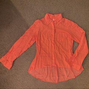 Orange Polka Dot Shirt